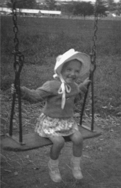 Peggy on swing Merrylands