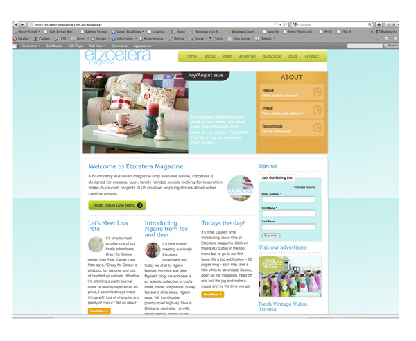 Etz screenshot website