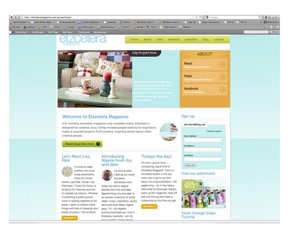 Etz screenshot website